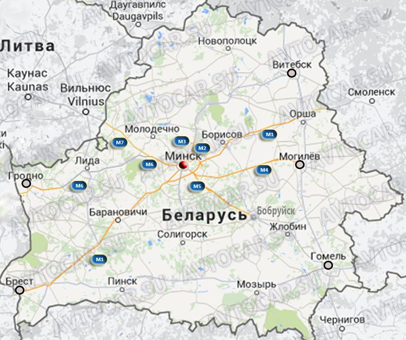 Платные дороги Беларуси с 1