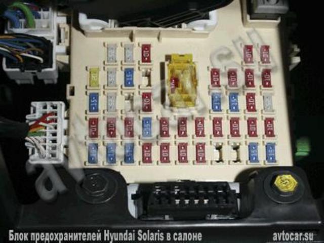 Схема блоков предохранителей hyundai solaris. — drive2.