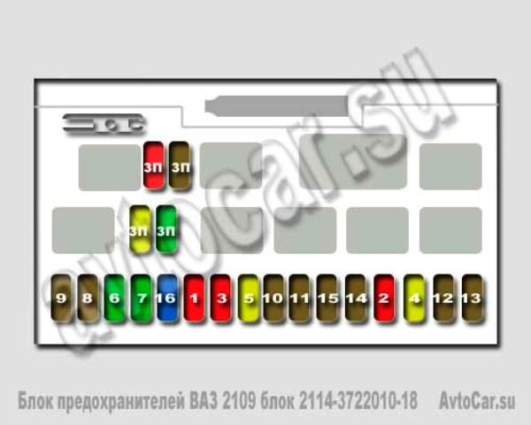 Монтажный блок ваз 2114 3722010
